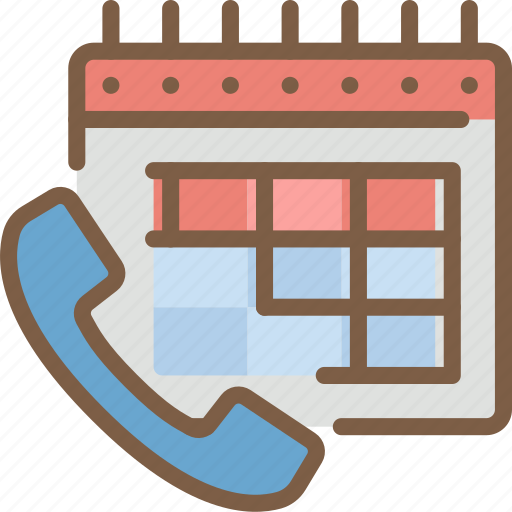 call, phone, schedule icon