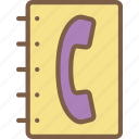 book, telephone icon