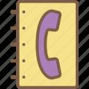 book, telephone icon