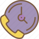 call, timed icon