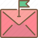 email, flagged icon