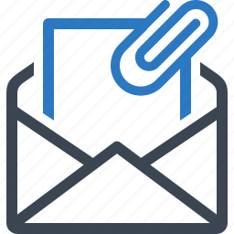 attachment, email, inbox icon