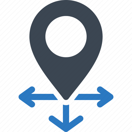 Direction, location, map pin icon - Download on Iconfinder