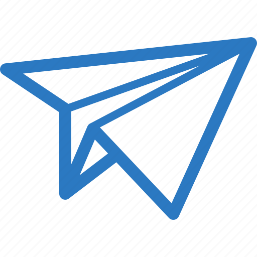 email, message, paper plane icon