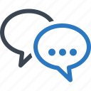 chat, customer service, speech bubbles icon