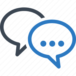 chat, comments, customer service, speech bubbles icon