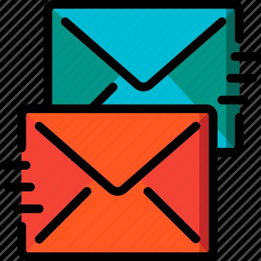 Recieve, communication, contact us, contact, send icon