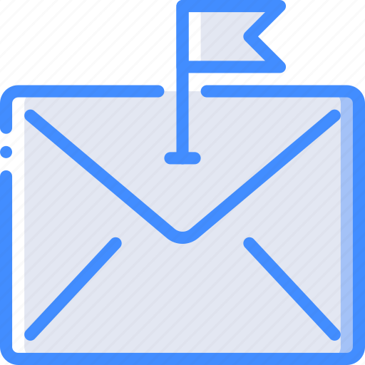 communication, contact, contact us, email, flagged icon