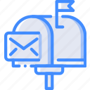 communication, contact, contact us, mail, mailbox icon