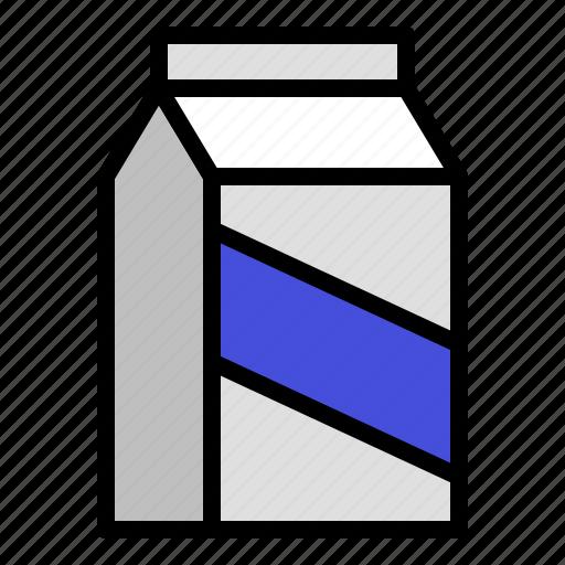 beverage, box, carton, container, drink, milk icon