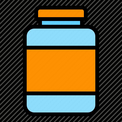 bottle, container, jar, medicine icon