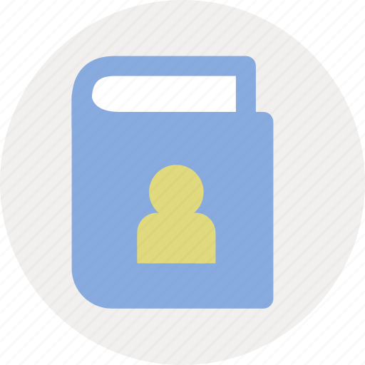 address, contact, contact book icon