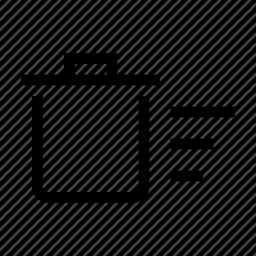 bin, delete, empty, fast, recycle, remove, trash icon
