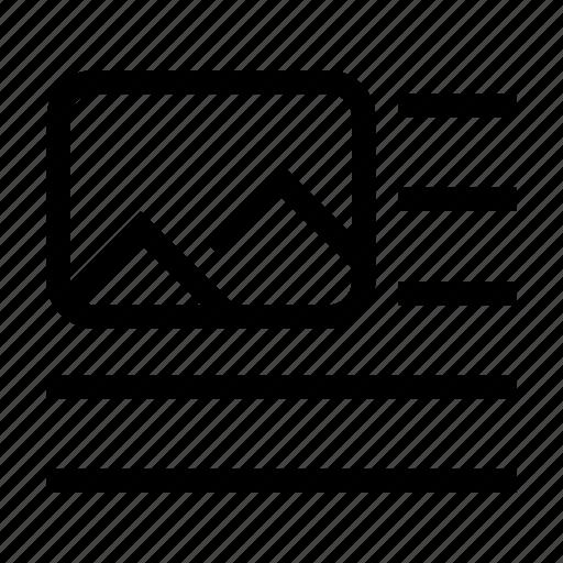 break, content, format, image, left, paragraph icon