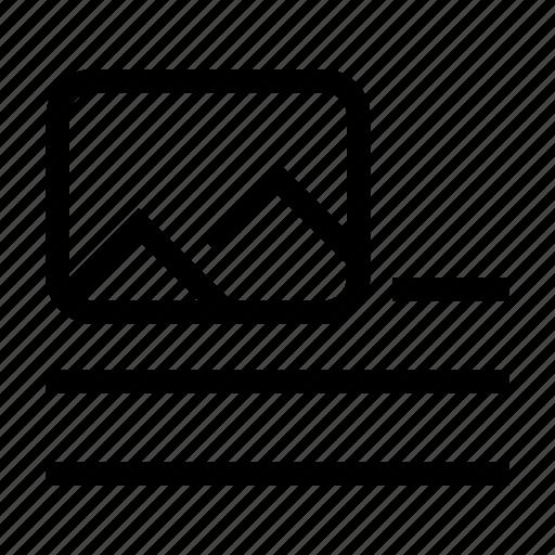 break, content, format, image, inline, paragraph icon