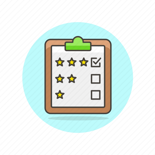 check, clipboard, content, document, list, rating, star icon