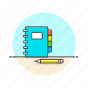 book, content, contract, draw, note, pencil, write icon