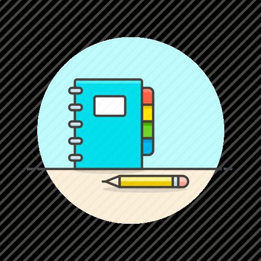 book, content, contract, draw, note, pencil, write icon