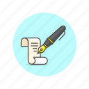 content, document, file, paper, pen, tool, write, writing icon