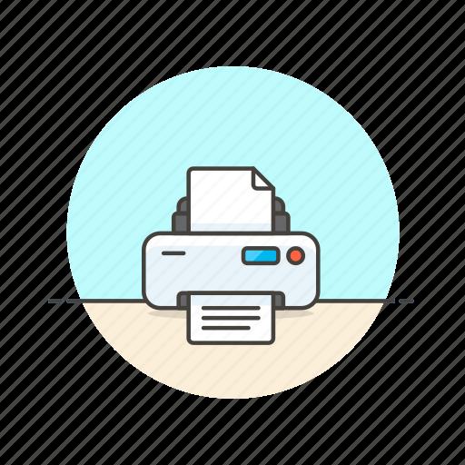 content, device, document, file, page, paper, printer icon