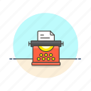 content, document, page, paper, retro, sheet, typewriter icon