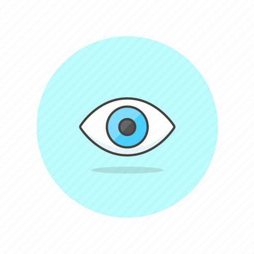 blue, content, eye, look, observe, view, watch icon