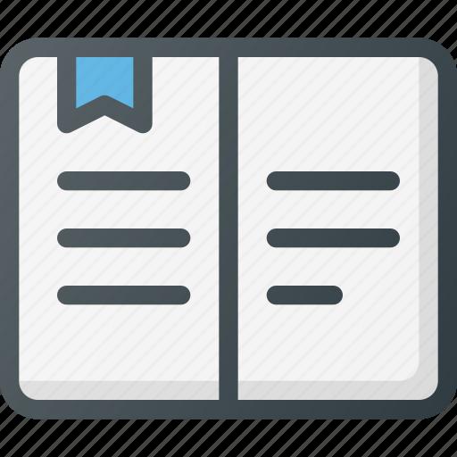 book, content, copywriting icon