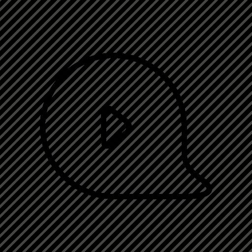 bubble, content, player, video, video content, video file, videos icon