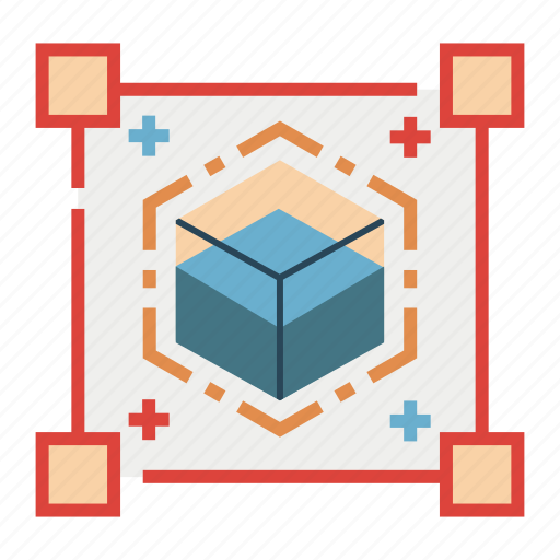blue ocean, box, competition, market, scale, strategy icon