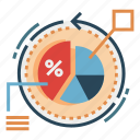 analytics, conversion, inbound, marketing, optimization, piechart, rate icon