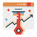 key, keyword, keywording, optimization, research, search, seo icon