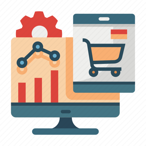 analysis, e-commerce, marketing, optimization, statistic, traffic icon