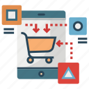 e-commerce, marketing, mobile, platform, shopping, strategy icon