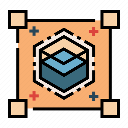 blue ocean, box, business, competition, market, scale, strategy icon