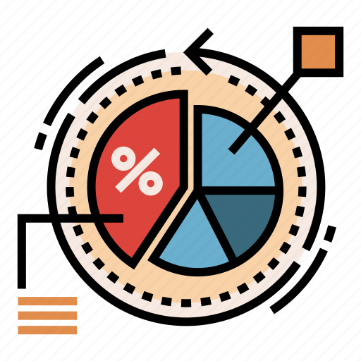 analytics, conversion, customer, dashboard, optimization, piechart, rate icon