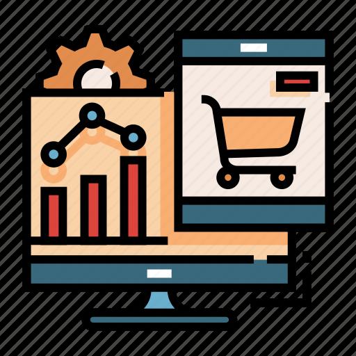 analysis, data, market, marketing, optimization, research, traffic icon