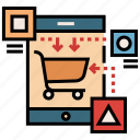 business, e-commerce, marketing, mobile, platform, shopping, strategy icon