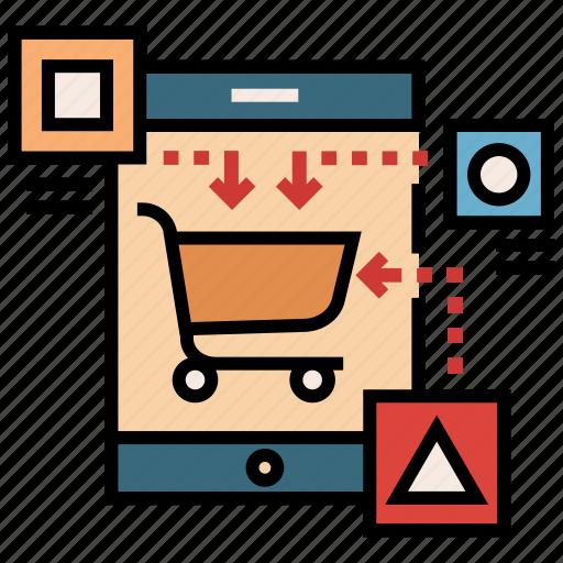 business, e-commerce, marketing, mobile, platform, shopping, strategy icon