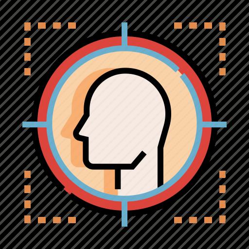 customer, focus, marketing, target, targeted, targeting, user icon