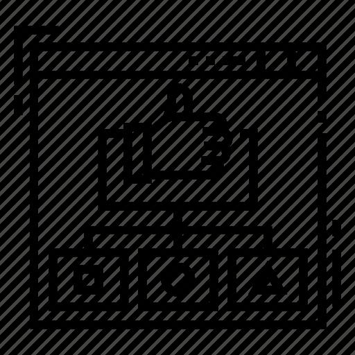 attribute, brand, branding, essence, identity, positioning, strategy icon