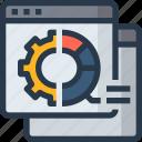 analytics, app, browser, data, process, seo icon