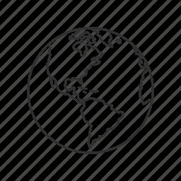 borders, geography, globe, map, world, world map icon