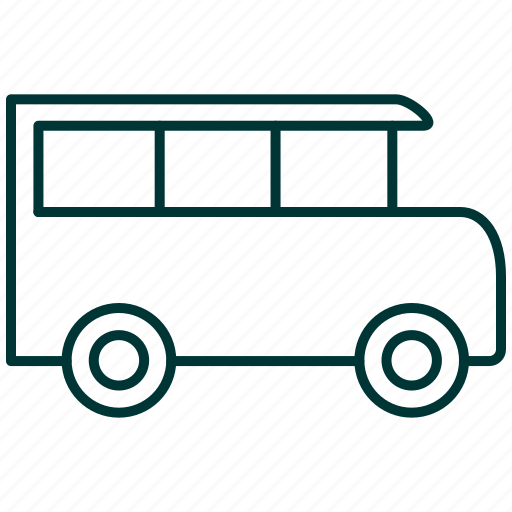 auto, bus, transport, transportation, van, vehicle icon