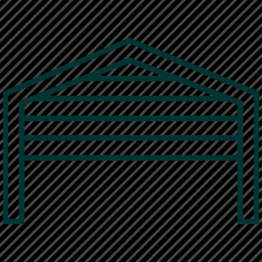 cars, doors, garage, shelter, vehicle icon