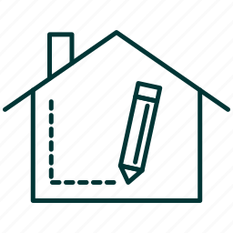 design, designer, home, house, interior, pencil, room icon