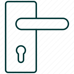 bolt, door, doorknob, lock, locksmith icon