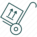 luggage, moving, pack, package, transporting, trolley icon