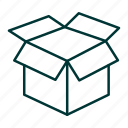 box, delivery, pack, packing, shipping icon