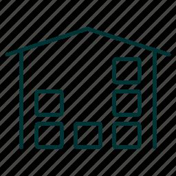 depot, space, stocks, storage, stores, warehouse icon