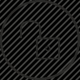 door, mode, open, secret, unlock icon